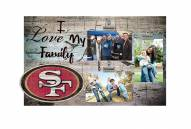 San Francisco 49ers I Love My Family Clip Frame