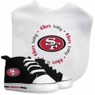 San Francisco 49ers Infant Bib & Shoes Gift Set