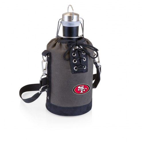 San Francisco 49ers Insulated Growler Tote with 64 oz. Stainless Steel Growler
