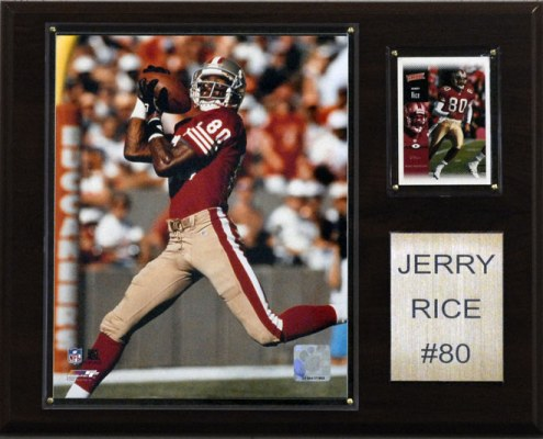 """San Francisco 49ers Jerry Rice 12 x 15"""" Player Plaque"""