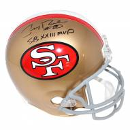San Francisco 49ers Jerry Rice Signed VSR4 Replica Throwback 64-95 Helmet w/ SB XXIII MVP