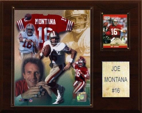 "San Francisco 49ers Joe Montana 12 x 15"" Player Plaque"