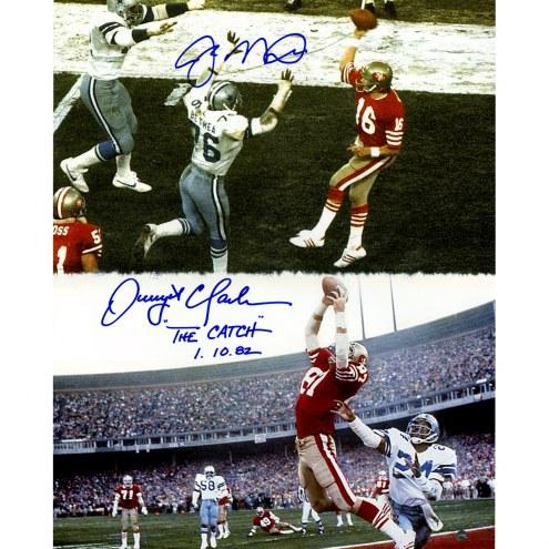 "San Francisco 49ers Joe Montana & Dwight Clark ""Catch"" w/ ""The Catch 1.10.82 "" Signed 16"" x 20"" Photo"