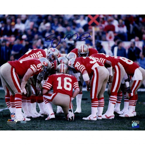 "San Francisco 49ers Joe Montana Huddle Signed 16"" x 20"" Photo"