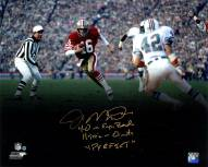 San Francisco 49ers Joe Montana Signed Run vs. Dolphins Spotlight 16 x 20 Photo