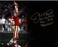 San Francisco 49ers Joe Montana Signed Touchdown Signal Spotlight 16 x 20  Photo