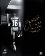San Francisco 49ers Joe Montana Signed Tunnel Spotlight 16 x 20 Photo