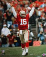 San Francisco 49ers Joe Montana Touchdown Signal Signed 16 x 20 Photo
