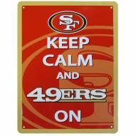 San Francisco 49ers Keep Calm Sign