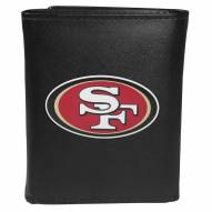 San Francisco 49ers Large Logo Leather Tri-fold Wallet