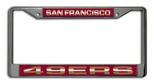 San Francisco 49ers Laser Cut License Plate Frame