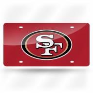 San Francisco 49ers Laser Cut License Plate