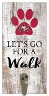 San Francisco 49ers Leash Holder Sign