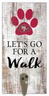 San Francisco 49ers Leash Holder Sign