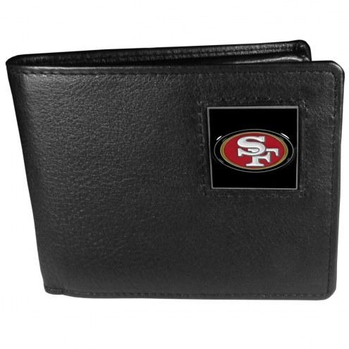 San Francisco 49ers Leather Bi-fold Wallet in Gift Box