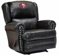 San Francisco 49ers Leather Coach Recliner