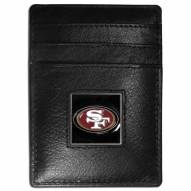 San Francisco 49ers Leather Money Clip/Cardholder in Gift Box