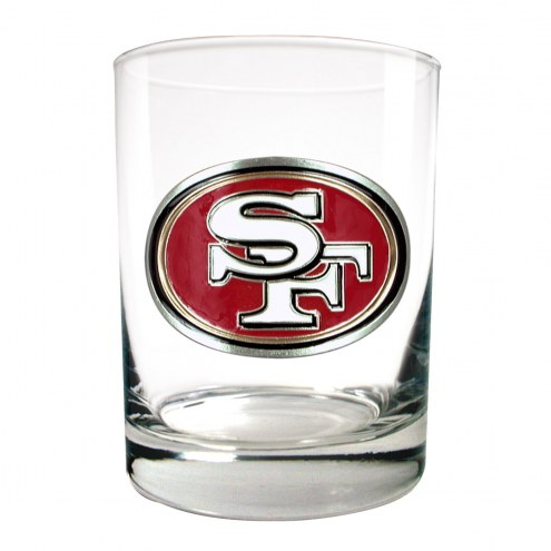 San Francisco 49ers Logo Rocks Glass - Set of 2