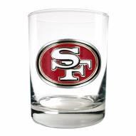San Francisco 49ers Logo Rocks Glass - Set of 2