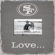 San Francisco 49ers Love Picture Frame