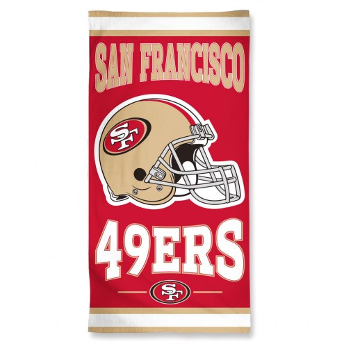 San Francisco 49ers McArthur Beach Towel