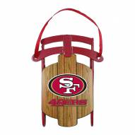 San Francisco 49ers Metal Sled Tree Ornament