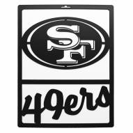 San Francisco 49ers Metal Team Sign