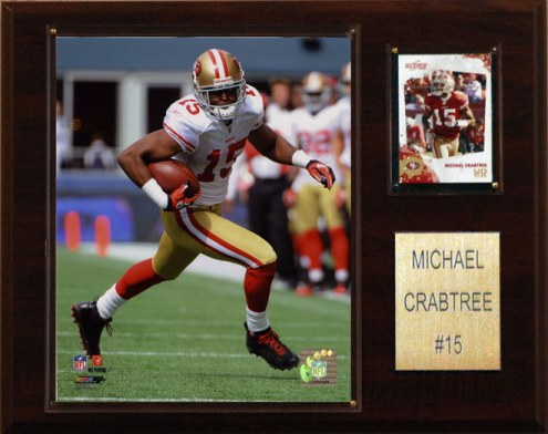 "San Francisco 49ers Michael Crabtree 12 x 15"" Player Plaque"