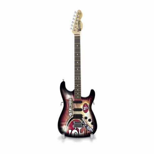 San Francisco 49ers Mini Collectible Guitar