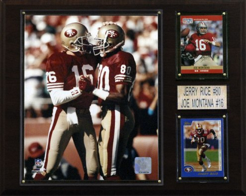 "San Francisco 49ers Montana-Rice 12 x 15"" Player Plaque"