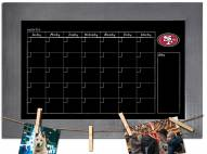 San Francisco 49ers Monthly Chalkboard with Frame
