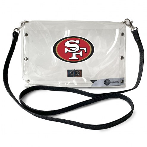 San Francisco 49ers Clear Envelope Purse
