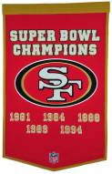 Winning Streak San Francisco 49ers NFL Dynasty Banner
