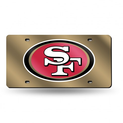 San Francisco 49ers NFL Laser Cut License Plate