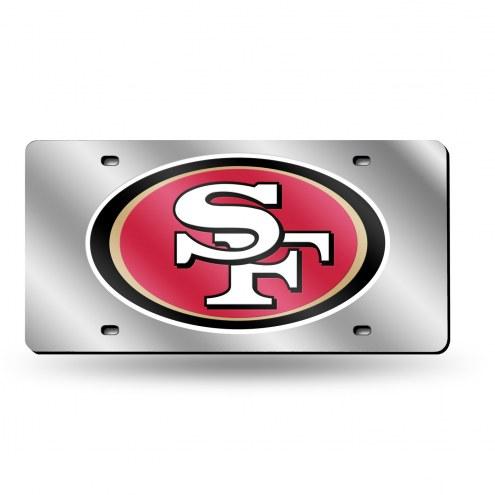 San Francisco 49ers NFL Silver Laser License Plate