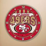 San Francisco 49ers NFL Stained Glass Wall Clock