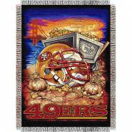 San Francisco 49ers NFL Woven Tapestry Throw