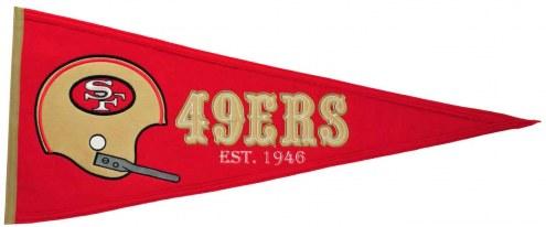 San Francisco 49ers NFL Throwback Pennant