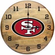 San Francisco 49ers Oak Barrel Clock