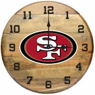 San Francisco 49ers Oak Barrel Clock
