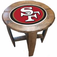San Francisco 49ers Oak Barrel Table