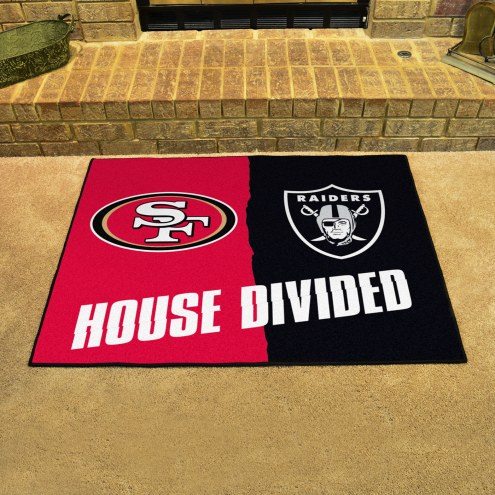 San Francisco 49ers/Oakland Raiders House Divided Mat