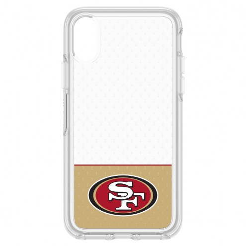 San Francisco 49ers OtterBox iPhone X Symmetry Clear Case