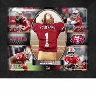 San Francisco 49ers Personalized 11 x 14 Framed Action Collage