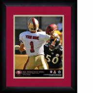 San Francisco 49ers Personalized 13 x 16 NFL Action QB Framed Print