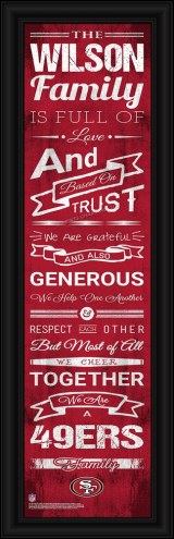 San Francisco 49ers Personalized Family Cheer Framed Art