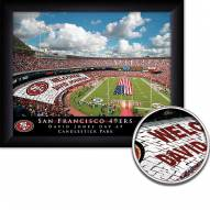 San Francisco 49ers 11 x 14 Personalized Framed Stadium Print