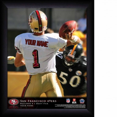 San Francisco 49ers Personalized 11 x 14 NFL Action QB Framed Print