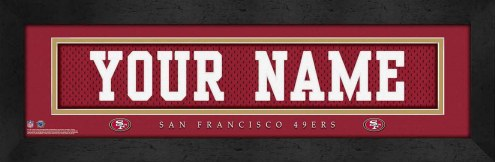 San Francisco 49ers Personalized Stitched Jersey Print