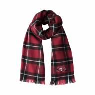 San Francisco 49ers Plaid Blanket Scarf